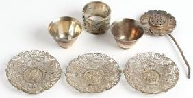 Group of Chinese & Japanese Silver, incl. K. Uyeda