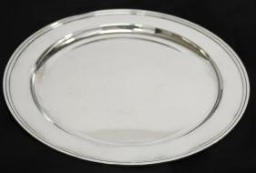 "Tiffany & Co. Sterling Silver 13"" Circular Tray"