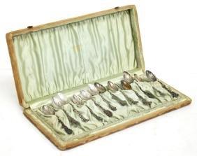 12 Antique Gorham Silver Demitasse Spoons #18