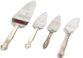 4 Vintage Sterling Silver Serving Pieces