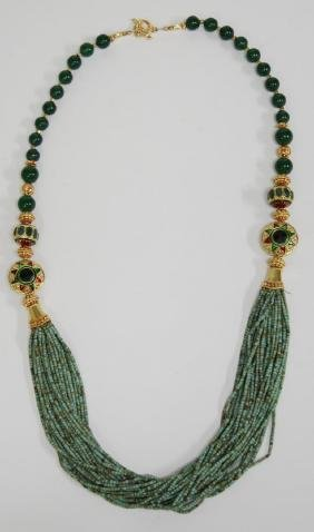 Necklace of Ancient Egyptian Faience Mummy Beads