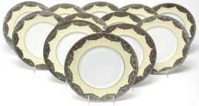 12 Limoges Porcelain Dinner Plates