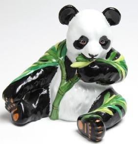 Lynn Chase Porcelain Giant Panda-Form Coin Bank