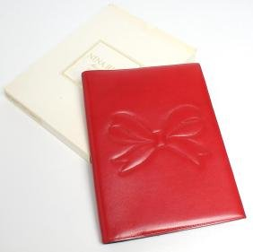Nina Ricci Red Leather Soft Notebook Cover