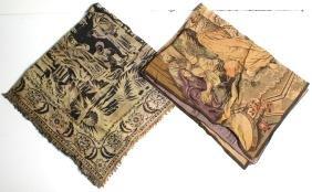 2 Vintage Orientalist Woven Tapestries