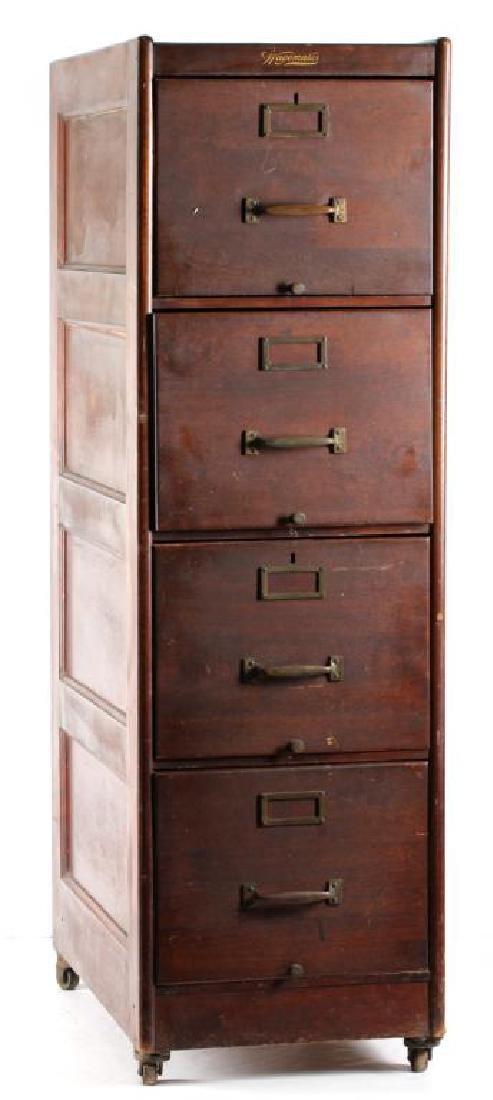 super popular a85b7 ec0b7 Antique Wagemaker 4-Drawer Wood File Cabinet