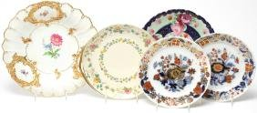 5 Continental Porcelain Plates, Including 19th C.