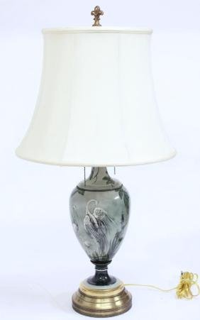 Hand-Painted Porcelain Lamp