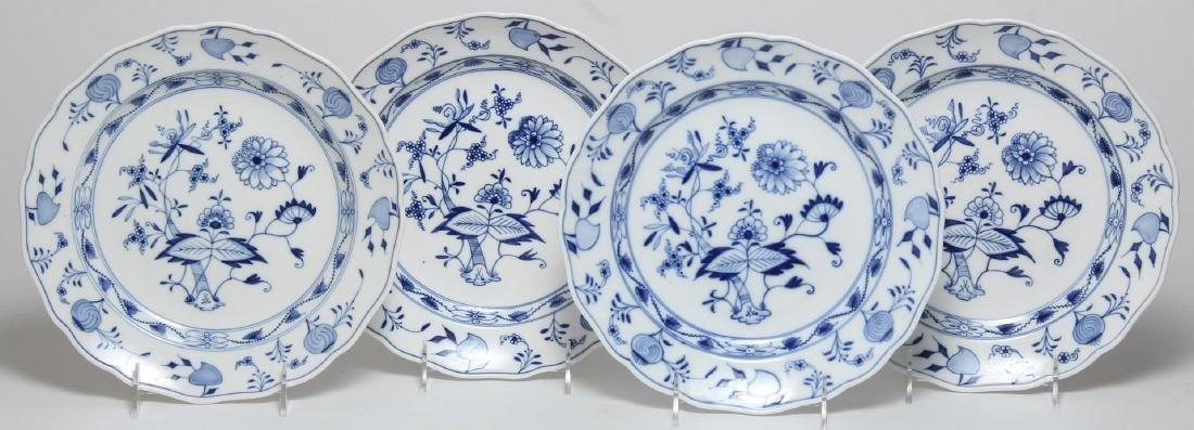 "4 Meissen Porcelain ""Blue Onion"" Dinner Plates"