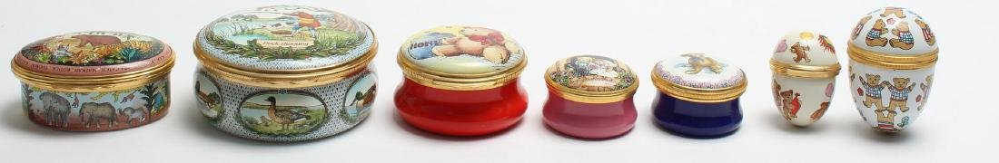 7 Halcyon Days Enamel Boxes