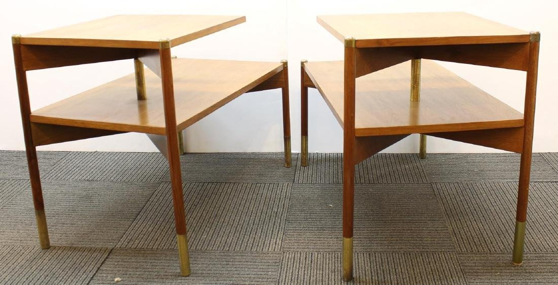 Pair of Mid-Century Modern Stepped End Tables - 2