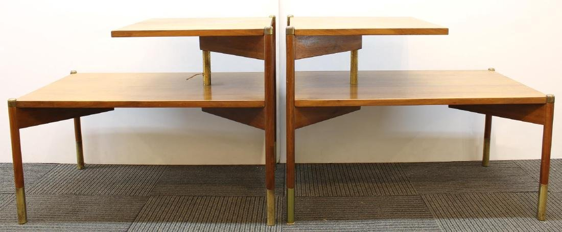 Pair of Mid-Century Modern Stepped End Tables - 5