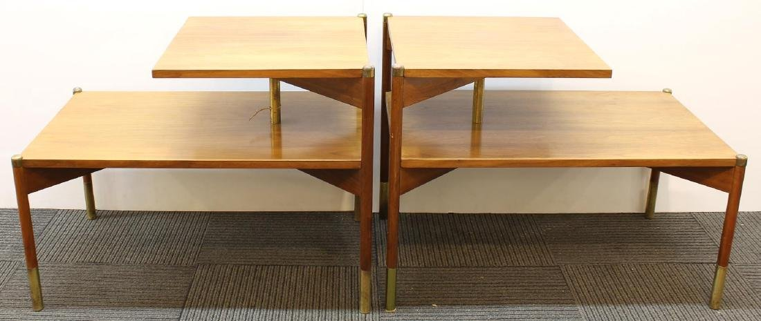 Pair of Mid-Century Modern Stepped End Tables - 6
