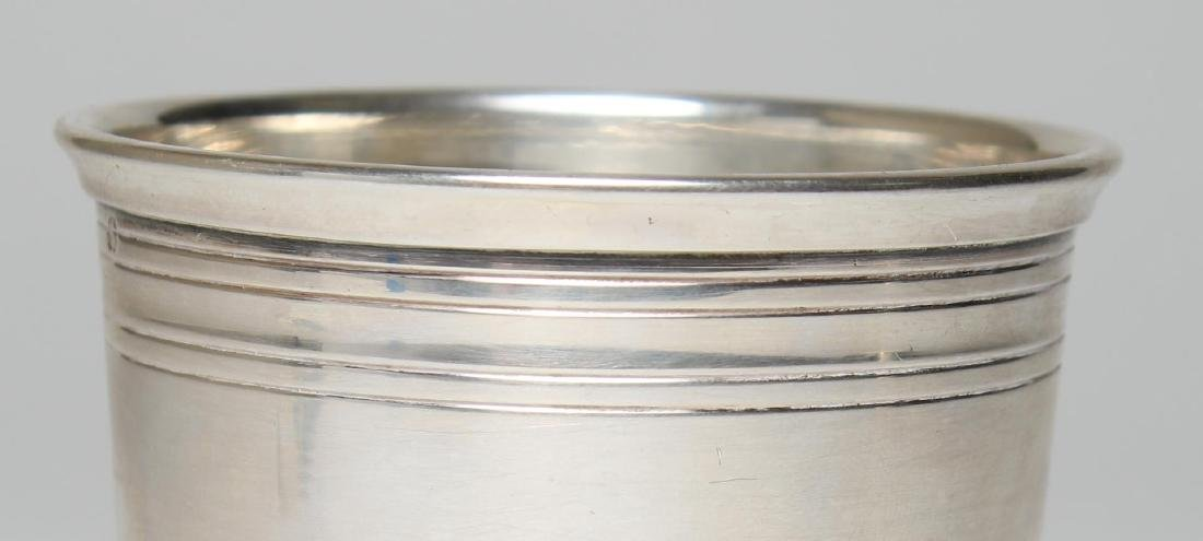 Vintage Tetard Freres French Silver Wine Cup - 2