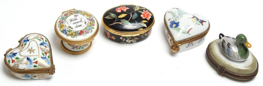 5 Enameled Boxes incl. Le Tallec & Halcyon Days