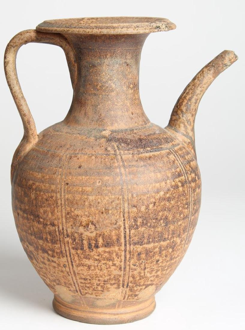 Asian Early Ware-Style Glazed Wine Pot/Ewer