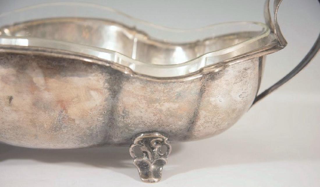 Art Nouveau Hammered Silver-Plate Centerpiece - 3