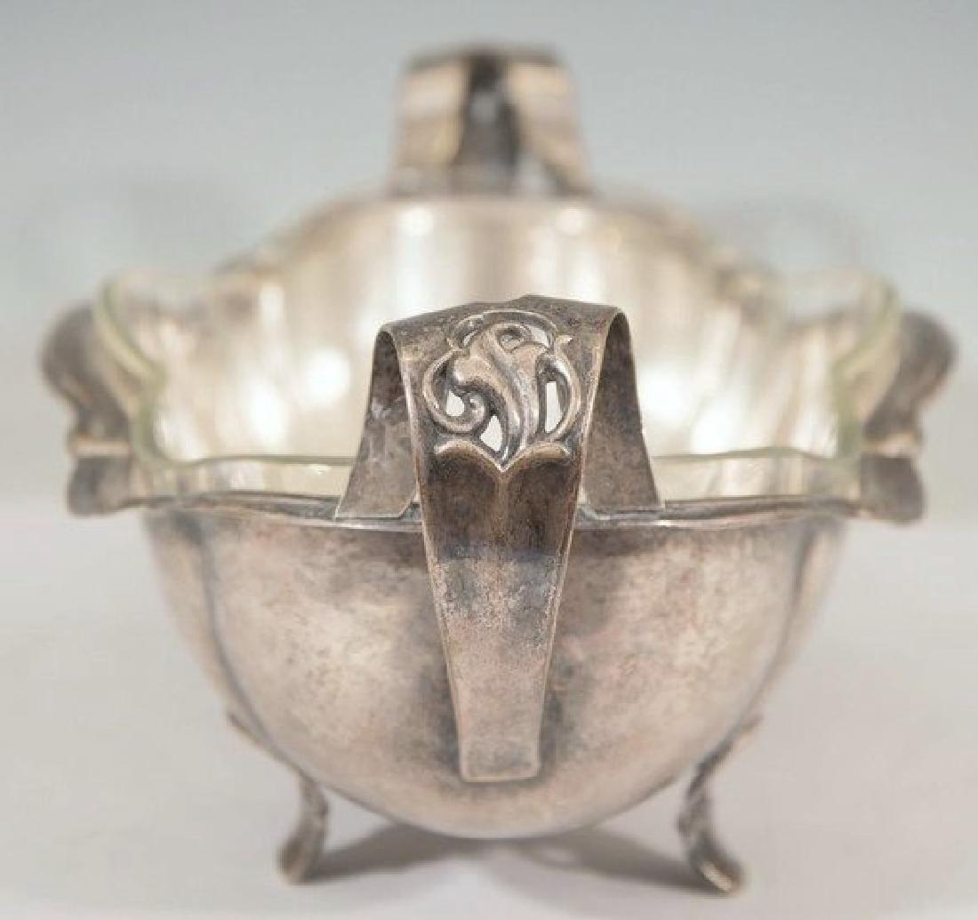 Art Nouveau Hammered Silver-Plate Centerpiece - 6