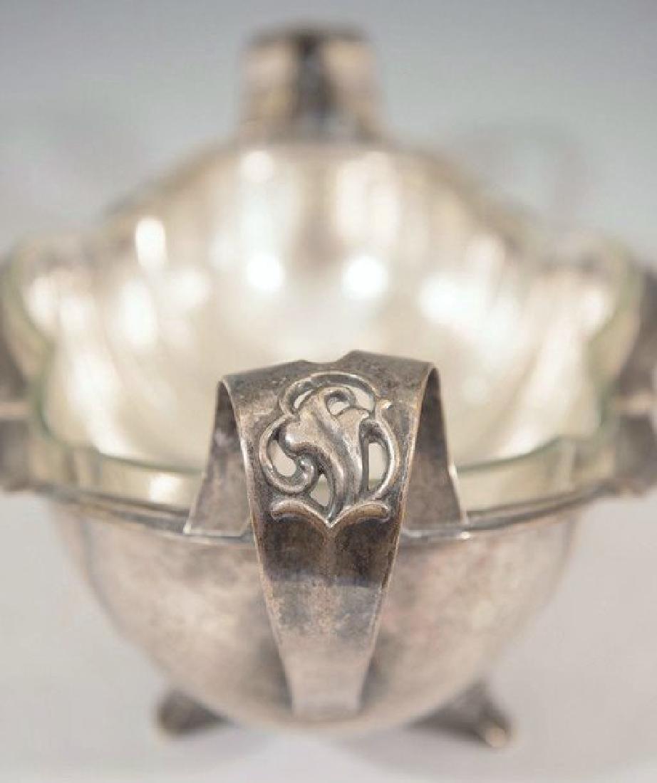 Art Nouveau Hammered Silver-Plate Centerpiece - 7