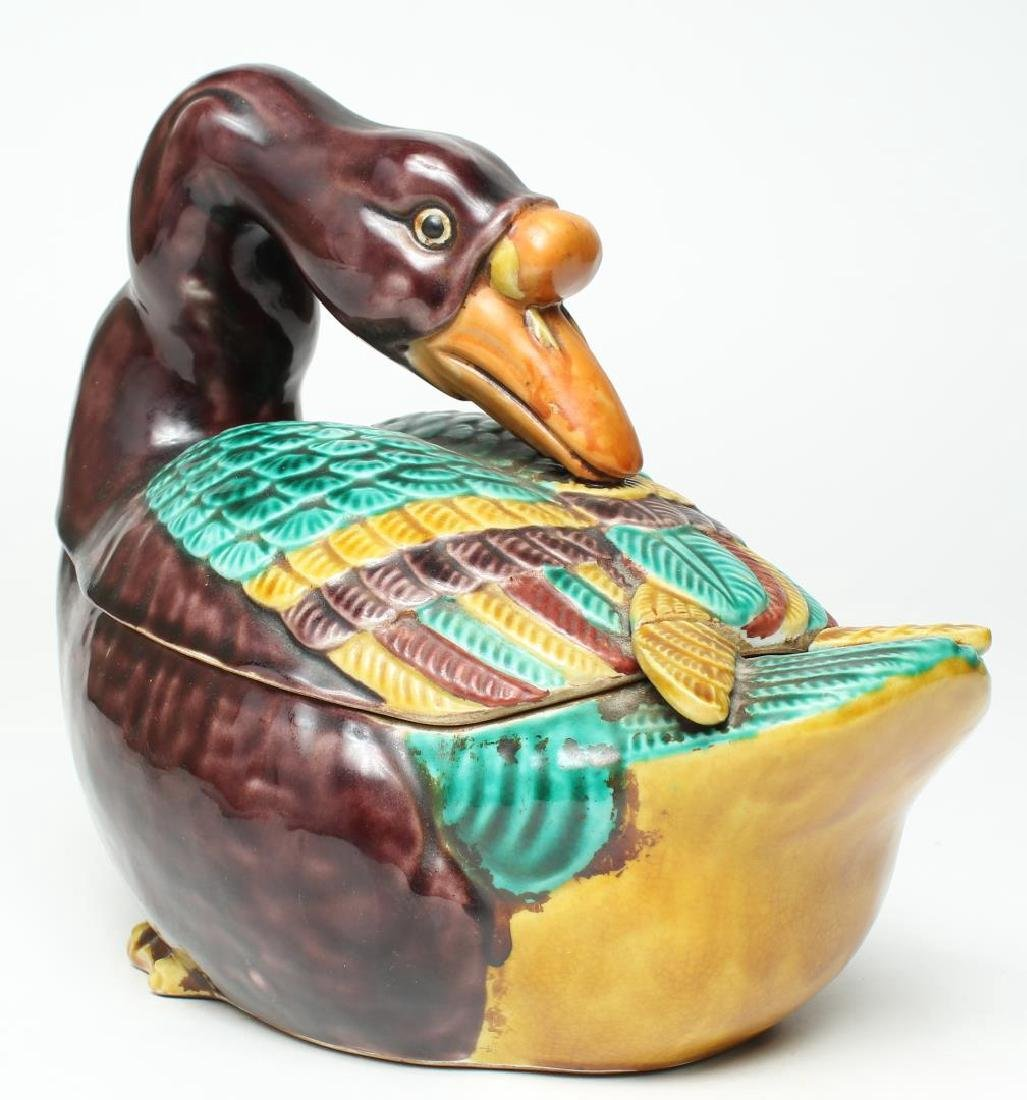 Chinese Export- Style Goose Tureen - 3