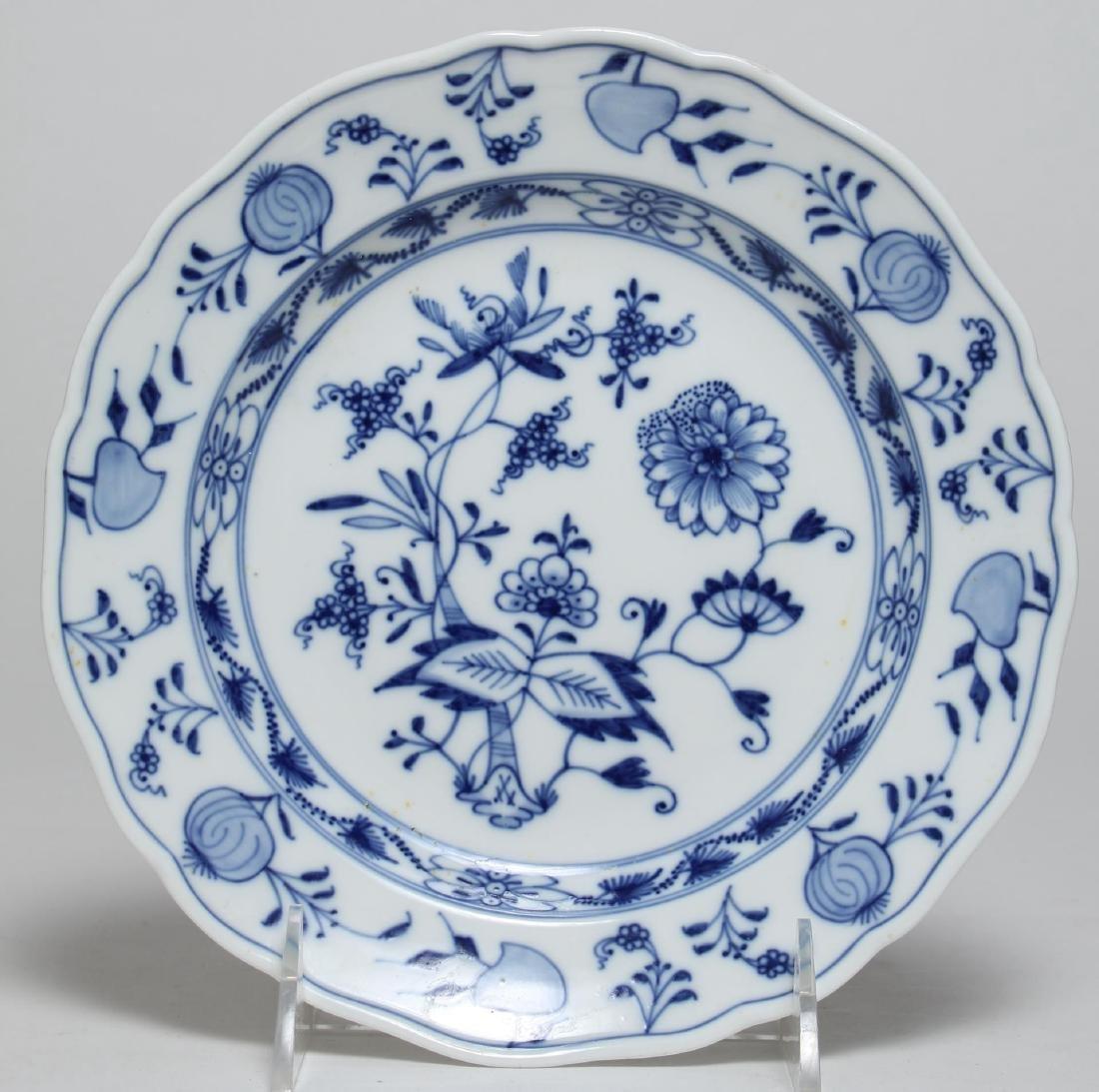 """9 Meissen Porcelain """"Blue Onion"""" Salad Plates - 2"""