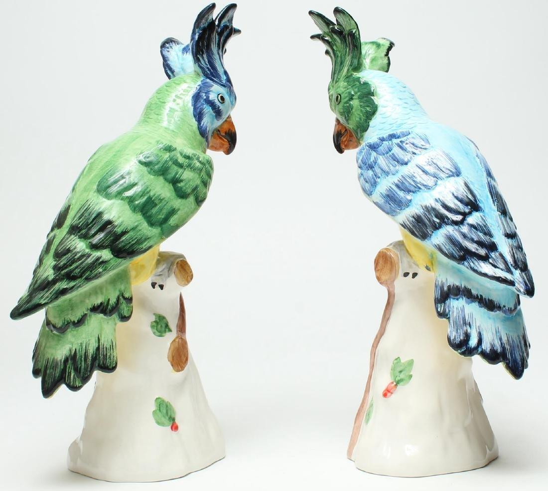 Pair of Italian Porcelain Parrot Figurines - 3
