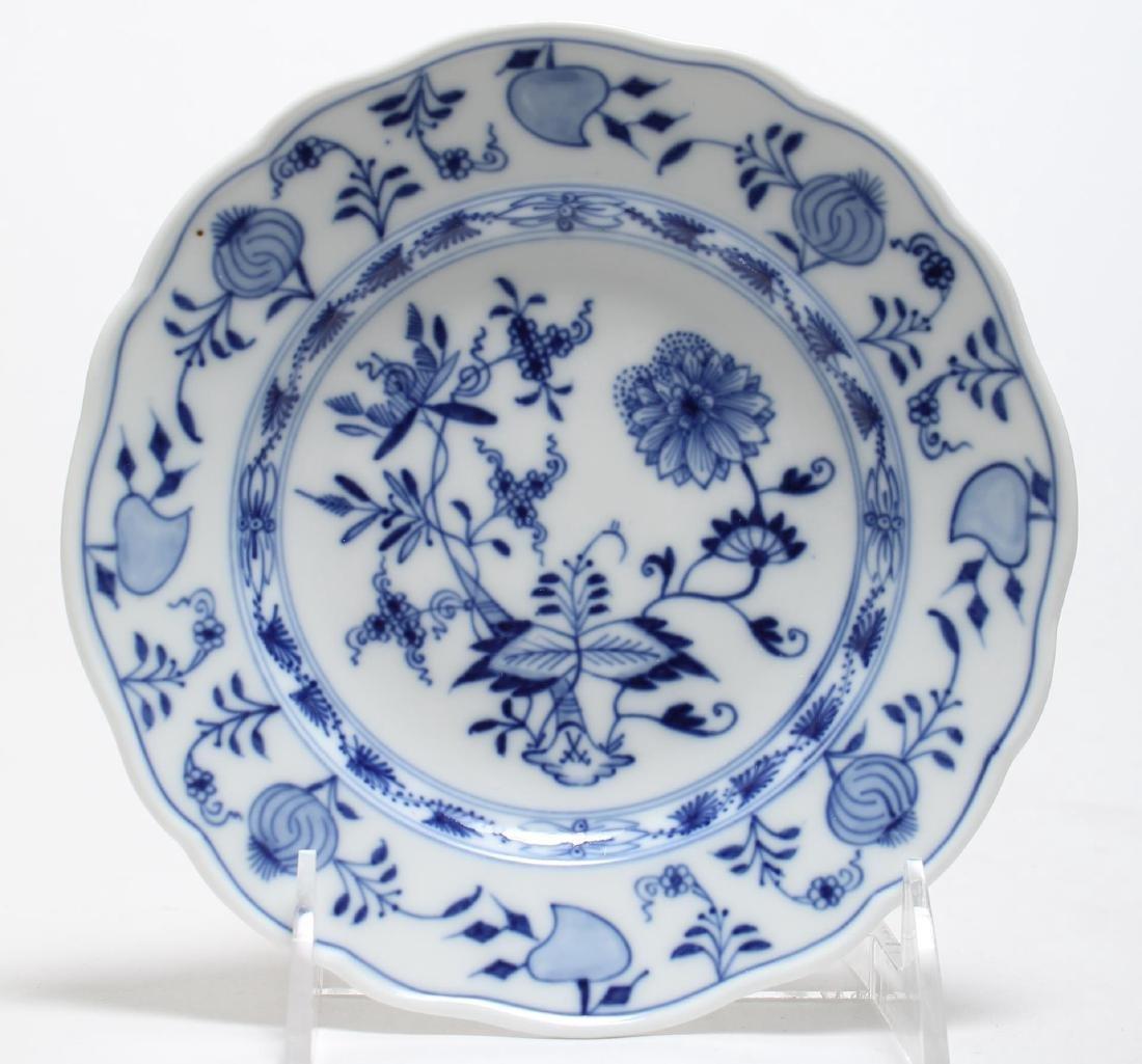 """15 Meissen Porcelain """"Blue Onion"""" Plates & Bowls - 5"""