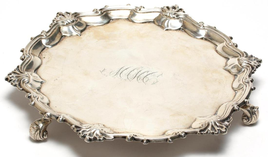 George II English Sterling Silver Footed Salver