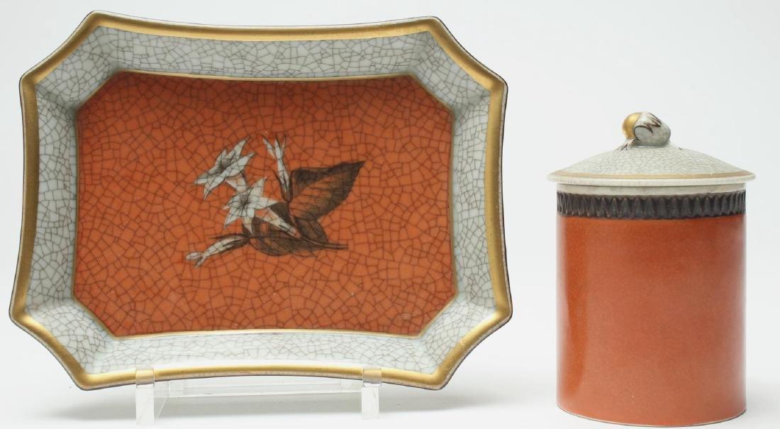 2 Thorkild Olsen Royal Copenhagen Crackle Items