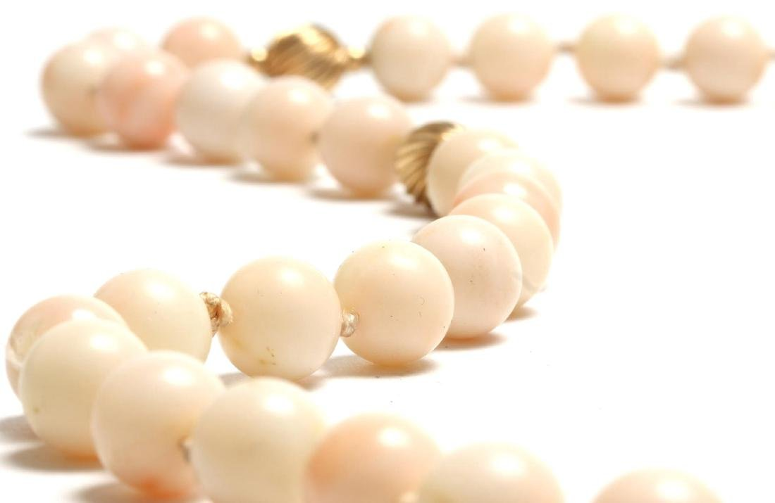 Angelskin Coral & 10K Gold Beaded Necklace - 3