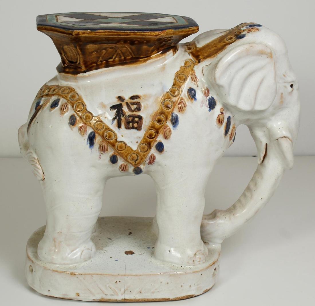 Chinese Porcelain Elephant Garden Stool