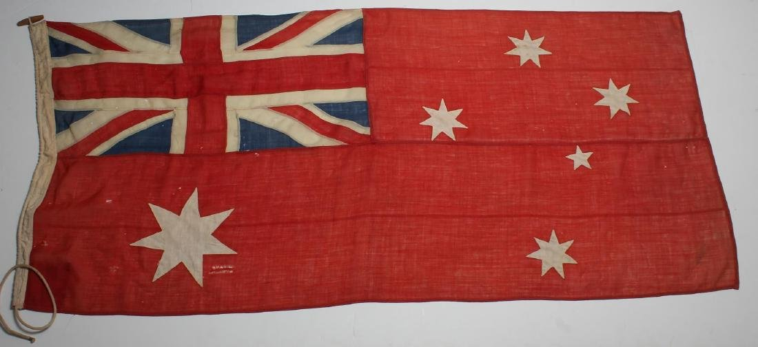 "Vintage Australian ""Red Ensign"" Nautical Flag"