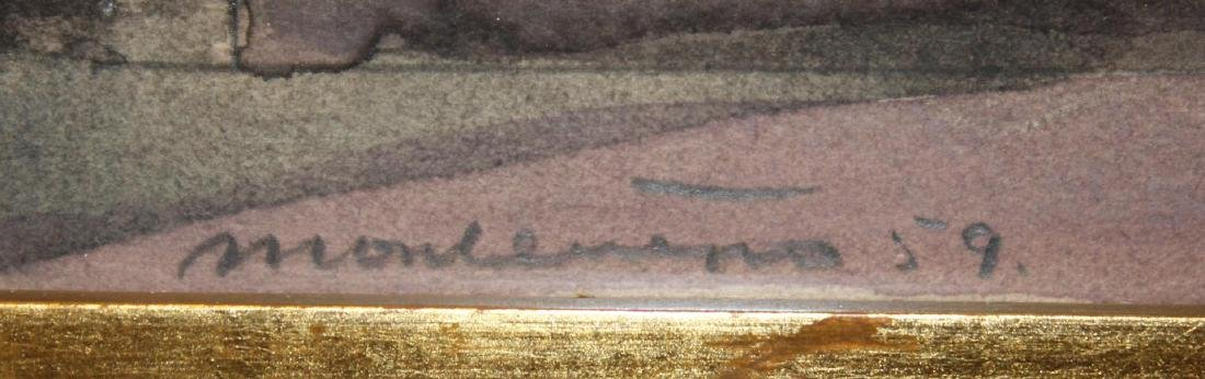 Illegibly Signed Watercolor - 2