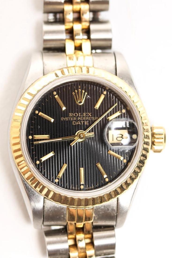 Woman's 18K Gold & Steel Rolex Oyster Watch