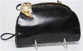 Vintage Judith Leiber Karung Leather Evening Bag