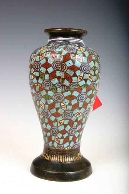 501: Japanese Cloisonne Vase c1930s