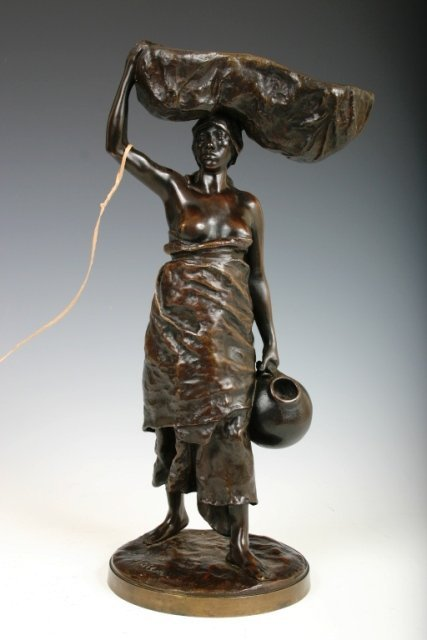 503: R.Maison Late 19th Bronze Figural of a Woman