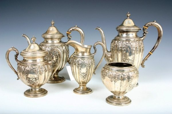 506: F. M. Whiting & Co. Sterling Coffee & Tea Service