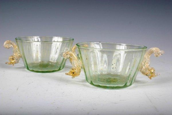 510: Pair of Venetian Glass Dessert Dishes