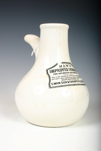 519: 19thc British Ceramic Mawa's Improved Inhaler