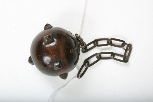 521: Small Studded Wooden Ball & Chain