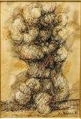Jim Ritchie (Canadian, b. 1929)- Ink & Watercolor