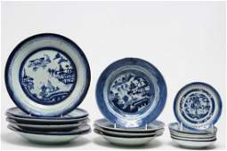 16 Antique Chinese Export Porcelain Dishes