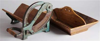 Antique Kitchen Items- Cast Iron & Wood