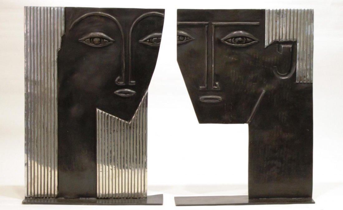 Stamped Hagenauer- Art Deco Bust Sculptures