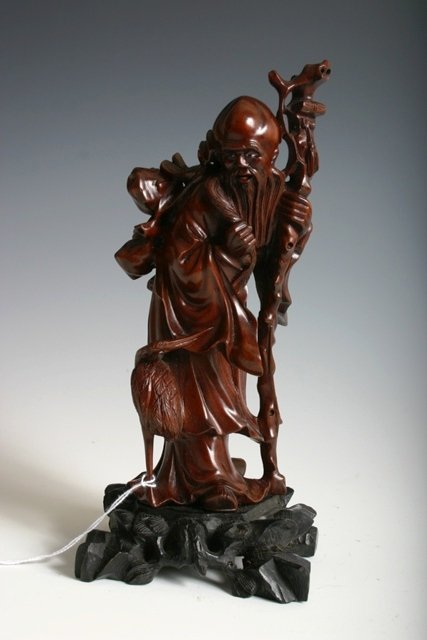 10: 2 Early 20th C Carved Figures of Old Men