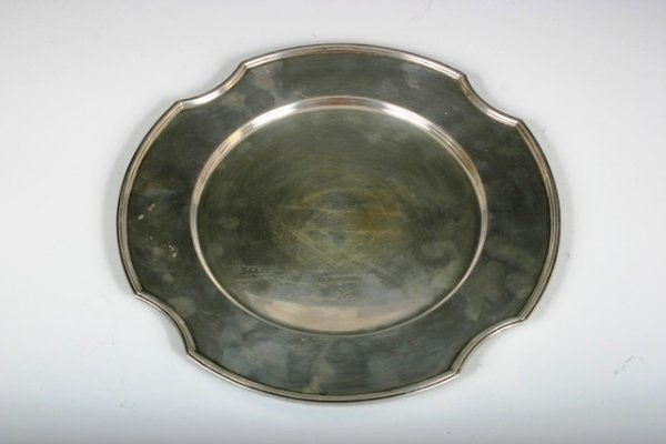 14: 19th c Gorham Silver Tray with Early Marks