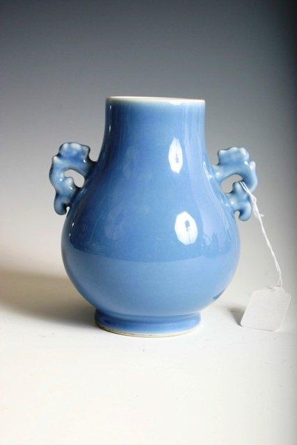 16: 19th C Miniature Lavender Vase