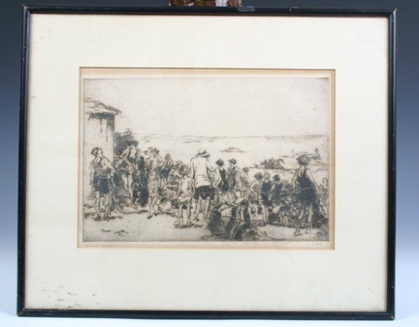 21: Compo Beach Print Signed by G. Wright