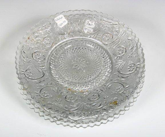 25: Set of 4 Pressed Glass Saucers c1920s